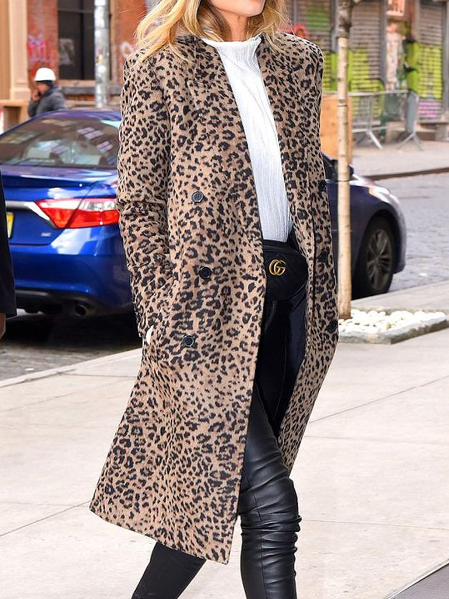 пальто с принтом