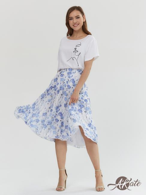 Блузка белая с коротким рукавом