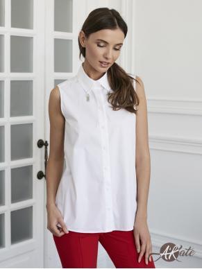Блузка без рукавов белая