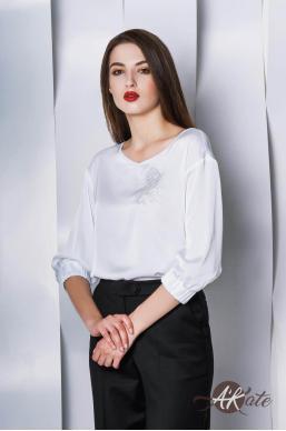 Блузка с вышивкой белая Оптом
