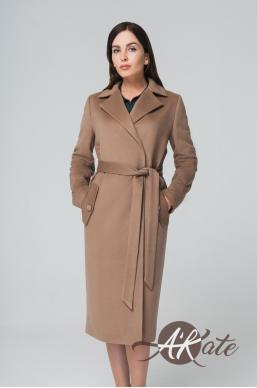 Пальто из шерсти бежевое Оптом