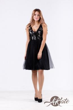Платье черное с пайетками Оптом