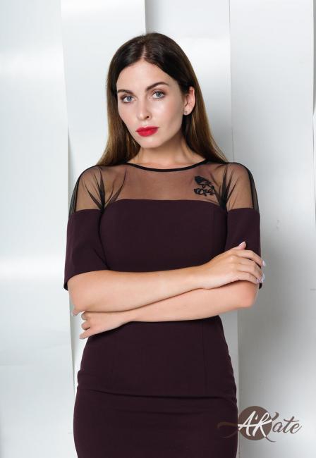 Платье футляр бордовое