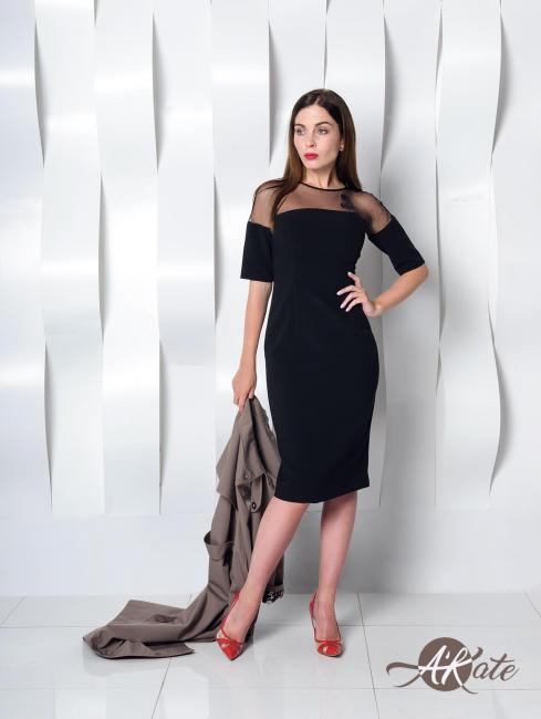 Платье футляр черное