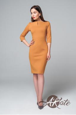 Платье футляр желтый Оптом