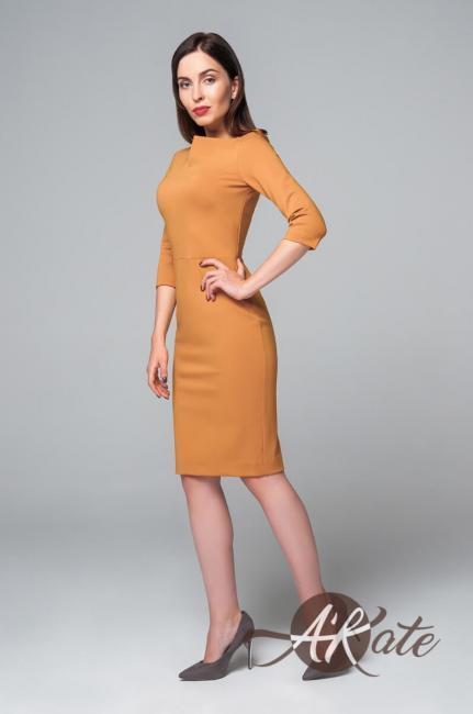 Платье футляр жёлтое
