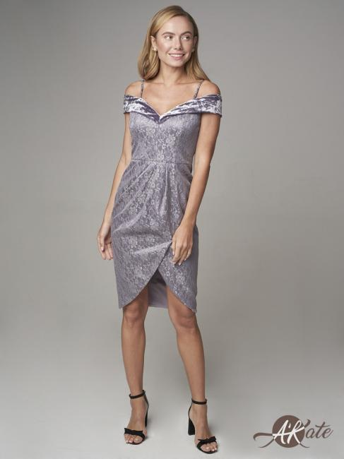 Платье коктейльное сиреневое