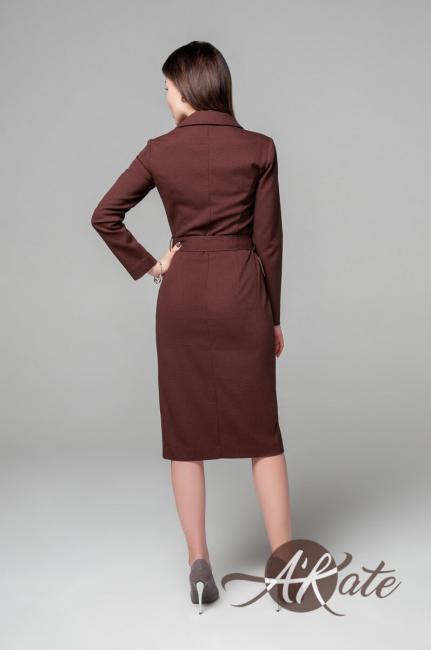 Платье на пуговицах бордовый