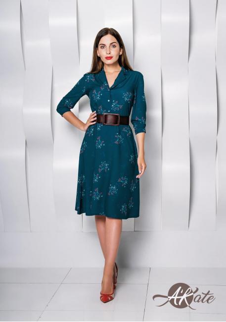 Платье с английским воротником