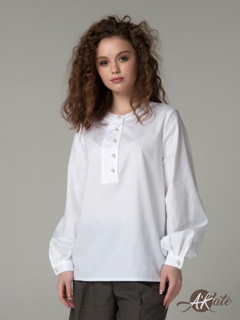Рубашка с пышным рукавом