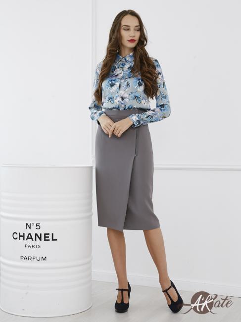 Блузка с цветами
