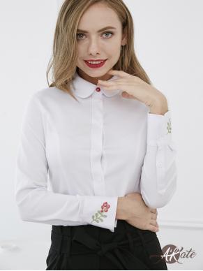 Блузка-рубашка с рельефами