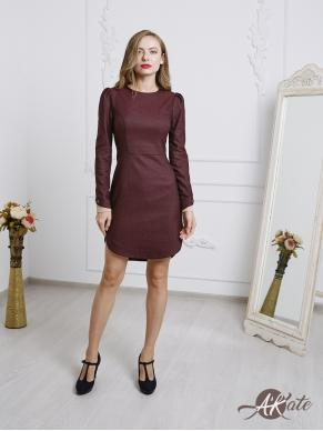 Платье с защипами на рукавах AU18D0803