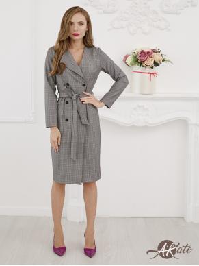 Платье-жакет  серое