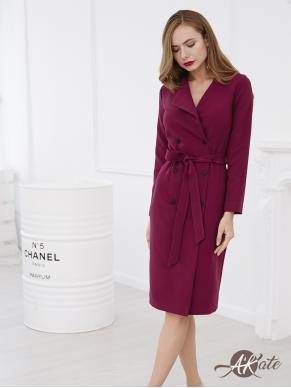 Платье-жакет бордовое Оптом