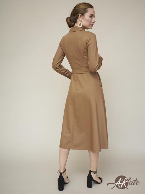 Платье-рубашка с карманами