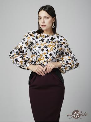 Блузка с пышным рукавом Оптом