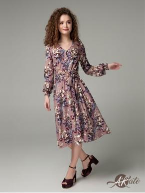 Платье расклешенное принт Оптом