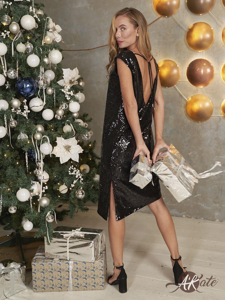 платье на новый год с пайетками